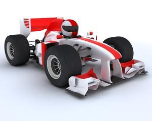 man with racing car