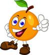 Orange cartoon character