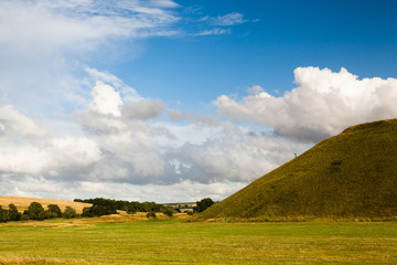 Famous Silbury Hill in Great Britain