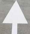 Flèche de sélection de voie routière