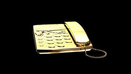 Gold telephone