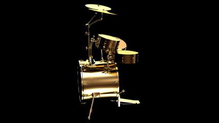 Gold drum kit