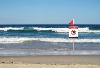 Danger - No Swimming sign