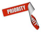 Sticker-Band rot rore PRIORITY poster