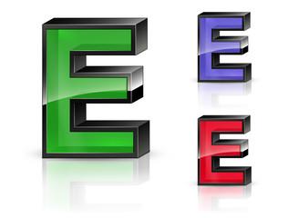 E - 3D Letters