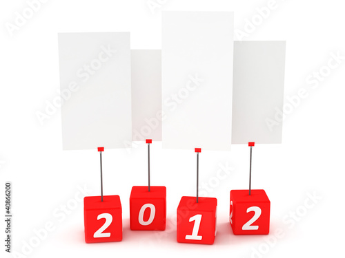Card holder. New year 2012 3d render