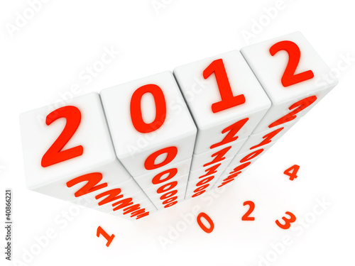 New year 2012 3d render