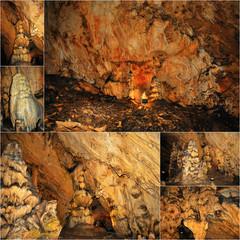 Magura Cave, Bulgaria .Collage
