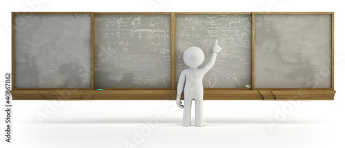 3d small people - Chalkboard