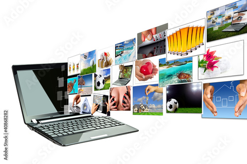 Multimedia streaming from the laptop screen