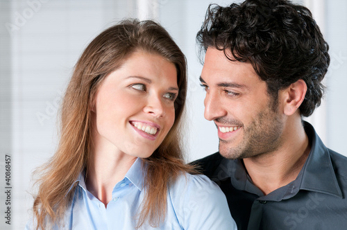 Happy couple expression