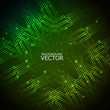 design of Vector green colorful Circuit Board