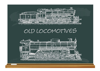 vector set: old locomotives