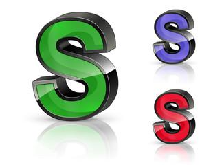 S - 3D Letters