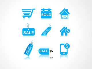abstract sale icons