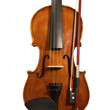 Concert violin and bow on white