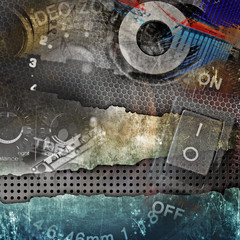 Abstract music background, grunge illustration
