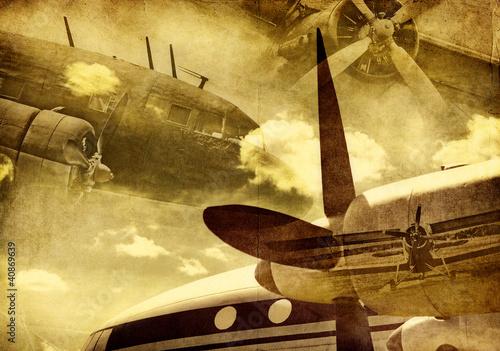 Fototapeta Retro aviation