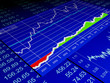 3d illustration: drawing from the sale of stock exchanges, busin