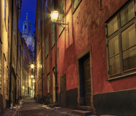 At night in the alley in Old Town.