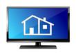 Monitor mit Haus