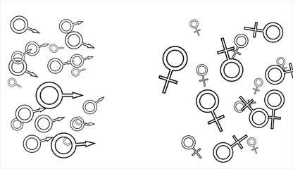 Men and women sign icons