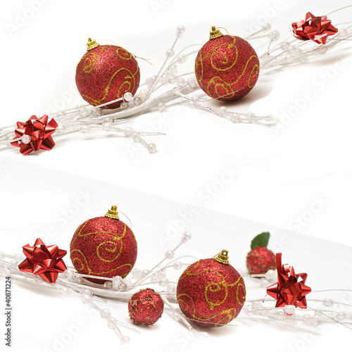 vánoční pozadí s míčky vánoční dekorace a