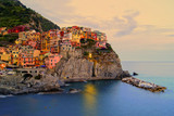 Fototapety Manarola, Italy on the Cinque Terre coast at sunset