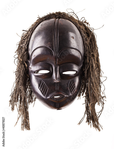 Black tribal face mask on isolated on white