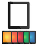 Tablet PC with blank colorful screen