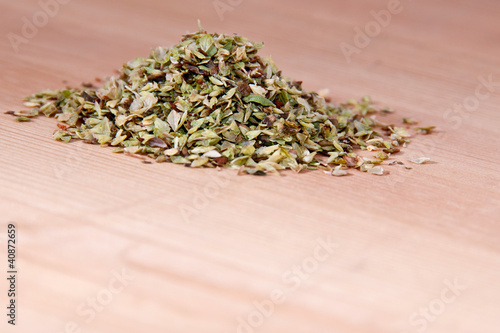 Heap of oregano