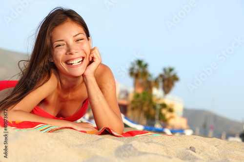 Happy beach girl