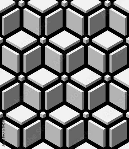 3d blocks seamless pattern