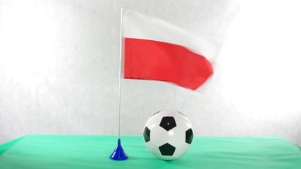 football and polish flag