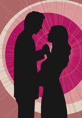 Tanzendes Paar Vektor