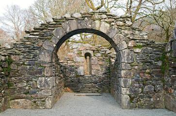 ruins of church in Glendalough, Ireland