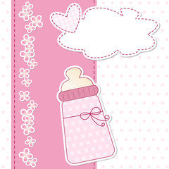 baby shower - nascita bimba - fiocco rosa