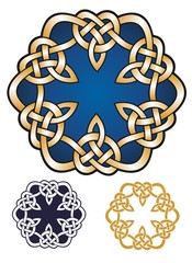 Knotwork royal emblem