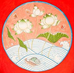Lotus drawing in Thai Style