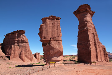 Sanstone rock formations, Talampaya N/P, La Rioja