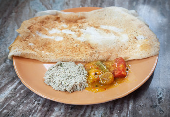 Indian masala dosa