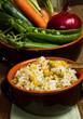 risotto con piselli e verdure