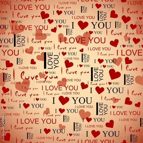 Seamless pattern love