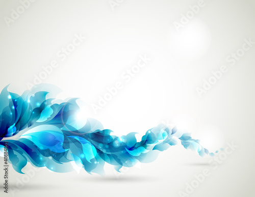 Abstract blue branch for design