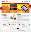 Editable Website Template 4. Color variant 3