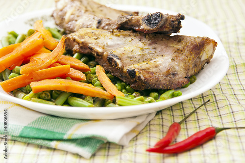 Pork ribs with carrot