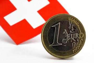 euro mit schweizerflagge