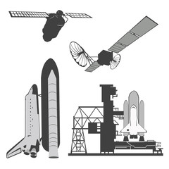 Vector illustration .Space elements.