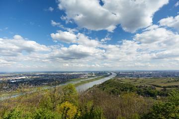 Wien, Panorama mit Donau