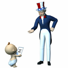 Uncle Sam - Future Taxes